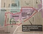 Light Industrial parcel close to New Spokane Public Development Authority area. 89 acres for $895,000.00